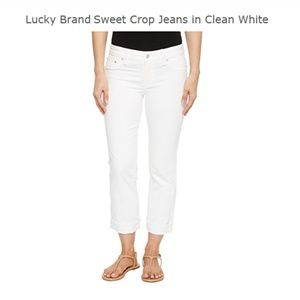 New Lucky Brand  White Sweet Crop Mid-Rise Capri